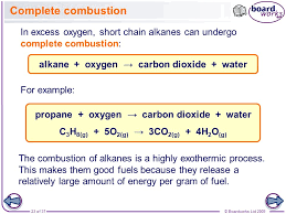 23 boardworks as chemistry alkanes complete combustion