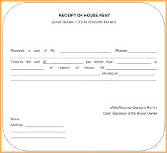 Format For Rent Receipt New Receipt For House Rent Letter 48 Format Room Template India R Lccorpco