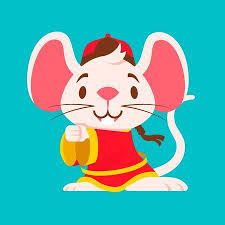 Cute <b>White Mouse</b> With Big Ears Wears Traditional <b>Chinese</b> Jacket ...
