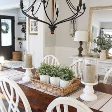 dining room table decor. Dale Marie On Instagram: \u201cI Love Our New DIY Chair Rail In Here. We Did A Faux Board And Batten The Lower Part Of Wall. Dining Room Table Decor 5