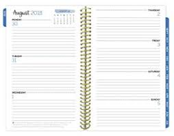 Academic Daily Planner Bloom Daily Planners 2018 2019 Academic Day Planner Monthly Weekly