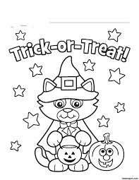 Small Picture Halloween Coloring Pages With Cats Coloring Pages