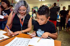 PHOTOS: Aloma Elementary Multicultural Night - Alma Mendoza and Ivan Alvarez  practiced their Chinese alphabet. | West Orange Times & Windermere Observer