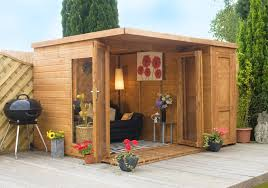 Small Picture Summer Houses Garden Room with side shed 10ft x 8ft Garden