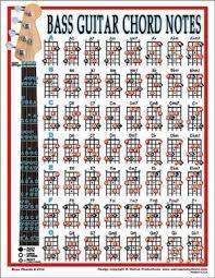 Bass Guitar Chart Walrus Bass Chord Laminated Chart