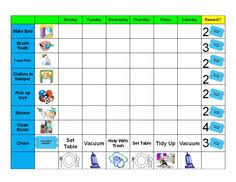 Printable Reward Charts For 4 Year Olds 137 Best Printable Reward Charts Template Images In 2019