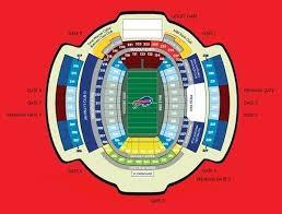 Seating Chart Bills Stadium Buffalo Bills Stadium Seating Image