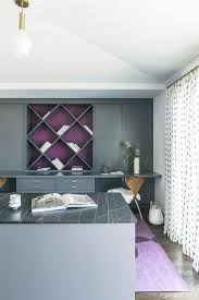 Image Teal Purple And Gray Home Office Color Scheme Decorpad Purple And Gray Home Office Color Scheme Contemporary Den