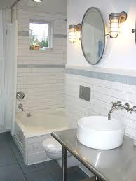white subway tiles grey grout