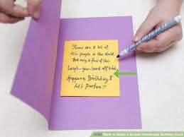 Birthday cards notes ~ Birthday cards notes ~ How to make a simple handmade birthday card steps