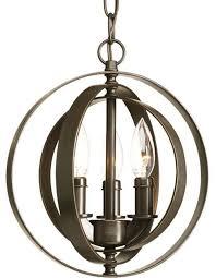 progress lighting p5142 126 equinox 3 light pendant light in burnished silver traditional pendant lighting by mylightingsource