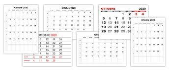 Calendario Ottobre 2020 Calendariosu