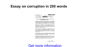 essay on corruption in words google docs
