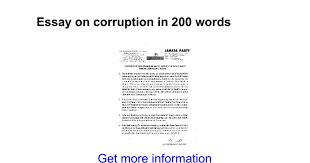 essay on corruption in words google docs