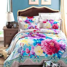 fabric for duvet covers baroque paisley print and colorful flowers bedding set pure cotton fabric duvet