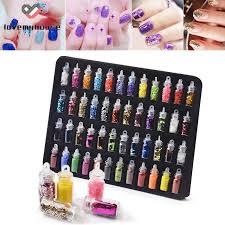 <b>48pcs</b>/<b>set Nail Art</b> Pigment Glitter Powder Set 48 Colors <b>DIY</b> ...