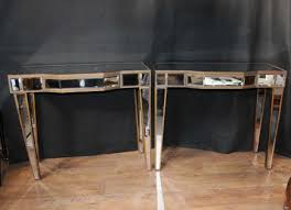 borghese mirrored furniture. Pair Mirrored Deco Console Tables Hall Mirror Furniture Borghese