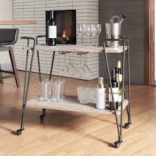 details about industrial metal mobile bar cart rustic mini bar wood shelves furniture bronze