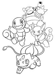 Pokemon Paradijs Kleurplaat Squirtle Blastoise Wartortle Bulbasaur