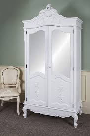 french antique hand carved armoire. French Double Wardrobe White Hand Carved Mirrored Armoire Antique Shabby Chic