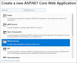 Worker Service Template In Net Core 3 0