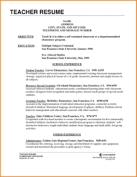 Cover Letter Teacher Gallery Elementary Entry Level Resume Template