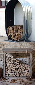 15 Creative Firewood Rack and Storage Ideas - Page 2 of 2   Firewood storage,  Outdoors and Rainbows
