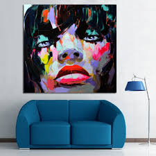 colorful handpainted wall pictures lady figure portrait oil paintings cool abstract people oil paintings on canvas free in painting calligraphy