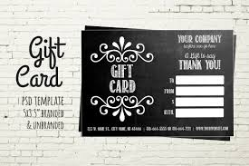 Gift Card Template Photos Graphics Fonts Themes Templates
