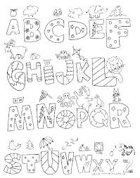 Alphabet Coloring Sheets Preschool Alphabet Coloring Pages X