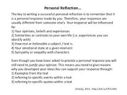 Image Result For Write Personal Reflection Writing Pinterest