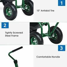 extendable handle garden cart rolling