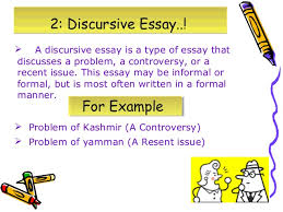 discursive and argumentative essays 5
