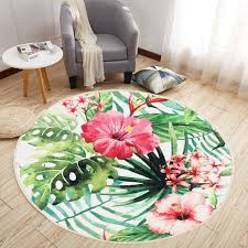4 sizes round floor mat area rugs nonslip water absorbent carpet blanket home room decoration tropical