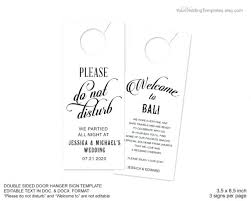 wedding door hanger template. Wedding Door Hanger Template Printable 5