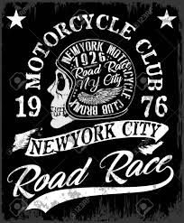 Array motorcycle label t shirt design with illustration of custom chopper rh 123rf