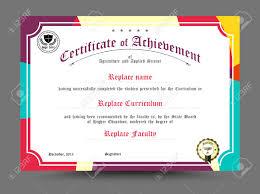 diploma certificate template design vector illustration royalty  diploma certificate template design vector illustration stock vector 43642968
