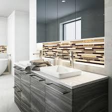 decolav ambre 1453 cwh semi recessed rectangular vitreous china bathroom sink