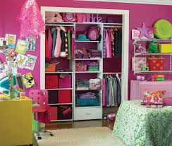 Pink And Green Girls Bedroom Teens Room Adorable Bedroom Closet Ideas Using Wooden Storage Pink