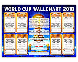 World Cup Planner Chart 2018 Russia Tournament Wallchart 2018 High Quality A2 A1 Wall Chart To Track The Results A2