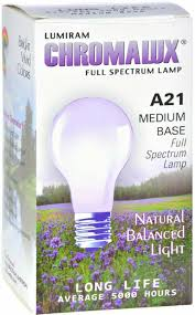 Chromalux Light Bulbs 75w Clear A21 Full Spectrum Bulb Chromalux