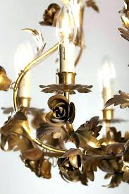 hollywood regency chandelier vintage pineapple style