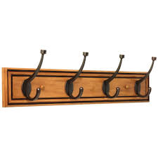 Coat Peg Rack Liberty Galena 100 in Honey Maple and Statuary Bronze Pilltop Coat 70