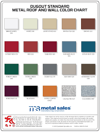 Streak Color Chart Color Charts Sportsfield Specialties