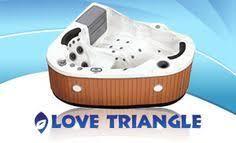 3 person corner hot tub. love triangle 2 person, 22 jet corner spa 220 volt or 110 plug and play portabl hot tubs 3 person tub