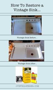 how to restore a vintage sink cynthiaweber com pinteres