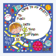 Space Party Invitation Outer Space Party Invitation