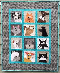 Cats N' Dogs Paper Pieced Quilt by madebymarney on Etsy | Quilting ... & Cats N' Dogs Paper Pieced Quilt by madebymarney on Etsy Adamdwight.com