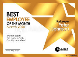 Employee Of The Month Photo Frame Diploma Best Employee Of The Month Golden Template With Gold Metal