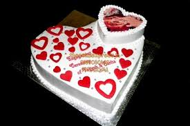 Double Heart Engagement Cake Delivery Noida Ring Ceremony Cakes In